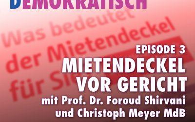 """""""Mietendeckel""""-Normenkontrollverfahren: Podcast mit Prof. Dr. Foroud Shirvani"""